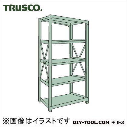トラスコ R3型ボルト式中量棚 単体5段 900×450×H2100 R37355