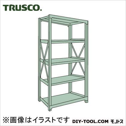 トラスコ R3型ボルト式中量棚 単体5段 1200×900×H1800 R36495