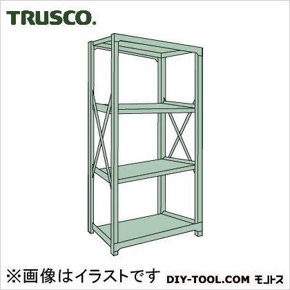 トラスコ R3型ボルト式中量棚 単体4段 1200×450×H1800 R36454
