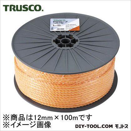 トラスコ(TRUSCO) PVロープ3つ打線径12mmX長さ100m 305 x 365 x 200 mm R-12100PV