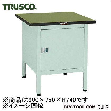 トラスコ OW型小型作業台 扉付 900X750XH740 OW9075C