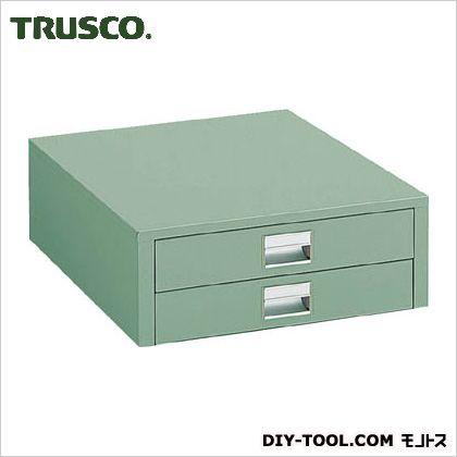 トラスコ 作業台用薄型2段引出し グリーン (UDC002) 作業台 ステンレス作業台 作業 万能作業台