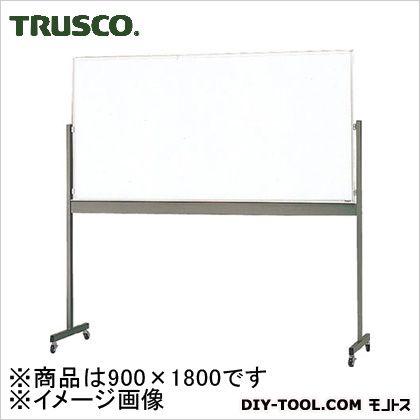 トラスコ(TRUSCO) 片面移動ボードスチール製ホワイトボード白暗線900X1800 MG402A