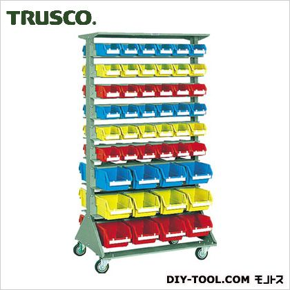 トラスコ 両面タイプ重量コンテナラック 小棚12大棚6 高さ1692 U1536WC