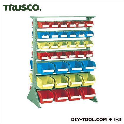 トラスコ 両面タイプ重量コンテナラック 小棚8大棚6 高さ1265 U1234W