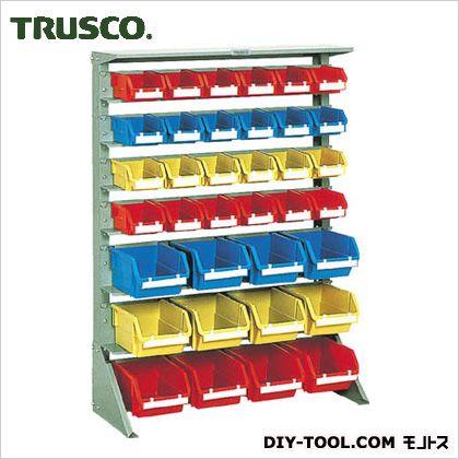 人気TOP 高さ1265 FACTORY ONLINE  トラスコ 片面タイプ重量コンテナラック 小棚4大棚3 U1234:DIY SHOP-DIY・工具
