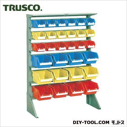 トラスコ 片面タイプ重量コンテナラック 小棚3大棚3 高さ1265 U1233