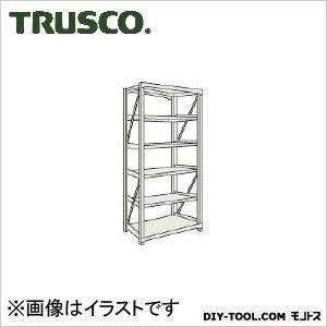 トラスコ M10型1トン重量棚 単体 ネオグレー 1500×620×H2100 M107566