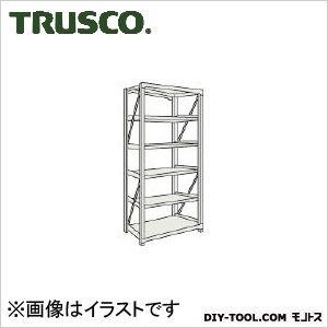トラスコ M10型1トン重量棚 単体 ネオグレー 1200×620×H2100 M107466