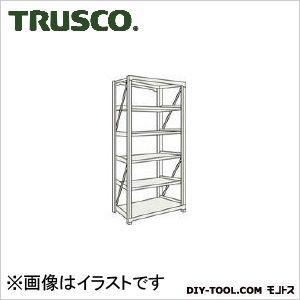 トラスコ M10型1トン重量棚 単体 ネオグレー 1200×620×H2100 M107465