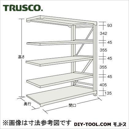 トラスコ M10型1トン重量棚 連結 ネオグレー 1500×620×H1800 M106565B