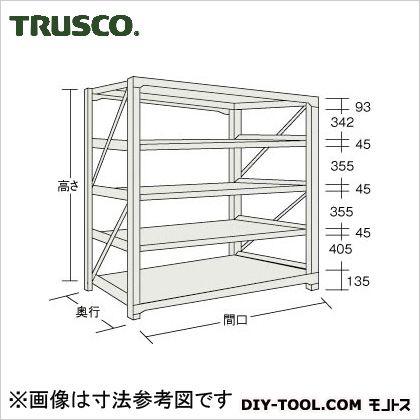 トラスコ M10型1トン重量棚 単体 ネオグレー 1500×620×H1800 M106565