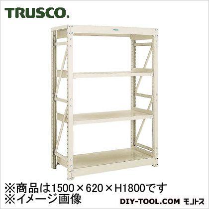 トラスコ M10型1トン重量棚 単体 ネオグレー 1500×620×H1800 M106564