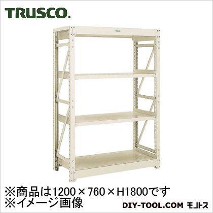トラスコ M10型1トン重量棚 単体 ネオグレー 1200×760×H1800 M106474