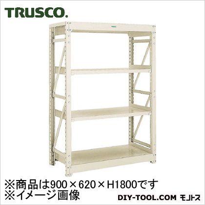 トラスコ M10型1トン重量棚 単体 ネオグレー 900×620×H1800 M106364
