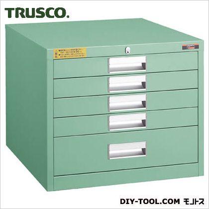 TRUSCO LVE型キャビネット500X550XH420引出5段 LVE-423