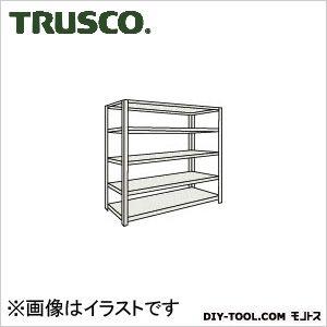 トラスコ ボルトレス軽量棚5段 ネオグレー 1200×450×H1500 L54X15