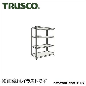 トラスコ ボルトレス軽量棚4段 ネオグレー 875×600×H1500 L53W14