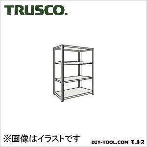 トラスコ ボルトレス軽量棚4段 ネオグレー 1500×450×H1200 L45X14