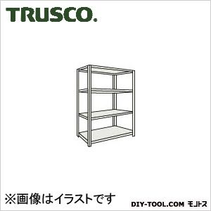トラスコ ボルトレス軽量棚4段 ネオグレー 875×600×H1200 L43W14