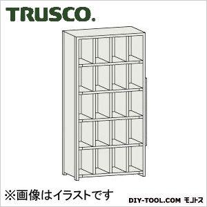 トラスコ 区分棚カード差し付 横4列型5段 879×254×1800 KC4050