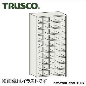 トラスコ コボレ止め付区分棚 横5列型10段 879×254×1800 KB5100
