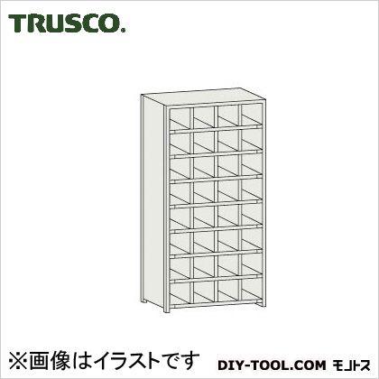 トラスコ コボレ止め付区分棚 横4列型8段 879×254×1800 KB4080