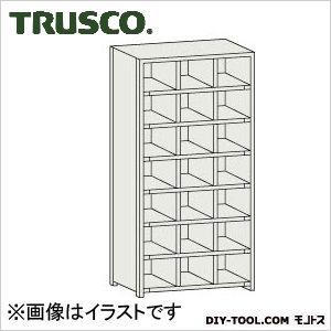 トラスコ コボレ止め付区分棚 横3列型7段 879×254×1800 KB3070
