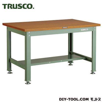 ※法人専用品※トラスコ(TRUSCO) HW型作業台1200X750XH740緑 GN HW-1200 1点