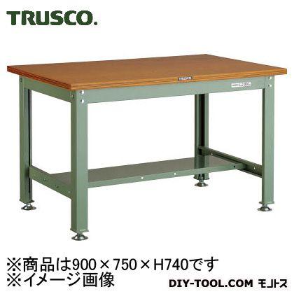 トラスコ(TRUSCO) HW型作業台900X750XH740緑 GN HW-0975