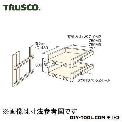 HTMM-6002 M3・M5型棚用スライド棚2段セット 1S トラスコ(TRUSCO)