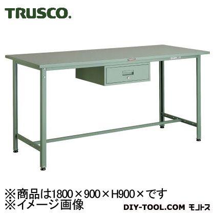 トラスコ 軽量立作業台鉄天板 引出1段 1800×900 300kg HSAE1809F1