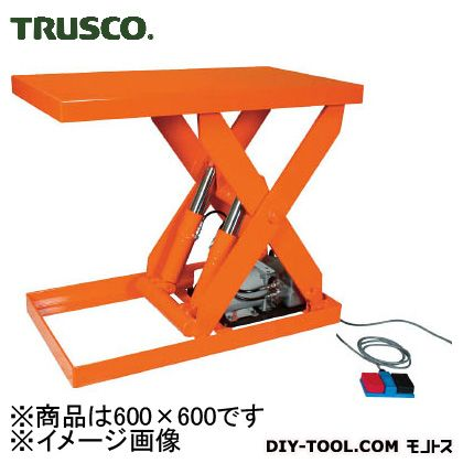 トラスコ 油圧テーブルリフト積載 300kg600×600 HDL300606