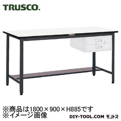 トラスコ 中量立作業台鉄天板 引出2段 1800×900 HAEWS1890F2