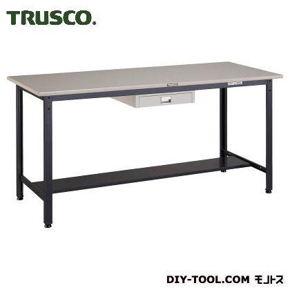 トラスコ 中量立作業台鉄天板 薄引出1段 1800×750 HAEWS1875UDC1