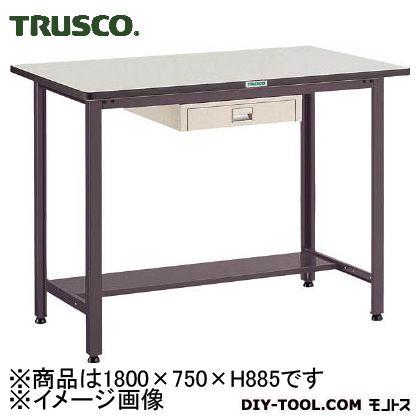 トラスコ 中量立作業台リノ天板 薄引出1段 1800×750 HAEWR1875UDC1
