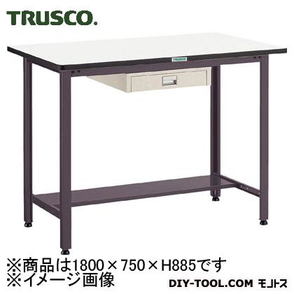 トラスコ 中量立作業台ダップ天板 薄引出1段 1800×750 HAEWP1875UDC1