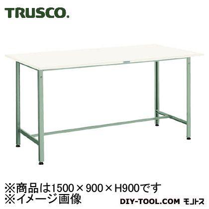トラスコ 軽量立作業台ポリ天板 300kg 1500×900×900 HAE1509