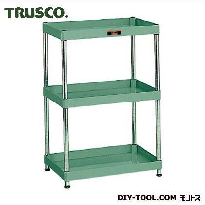 トラスコ フレックスラック3段 緑  荷重100kg 600×400 FLR813