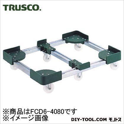 TRUSCO 伸縮式コンテナ台車内寸400-500X800-900スチール製 FCD6-4080