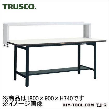 トラスコ 軽量作業台ポリ化粧天板 タイプ上棚付 200kg W1800XD900 EWP1890YURB