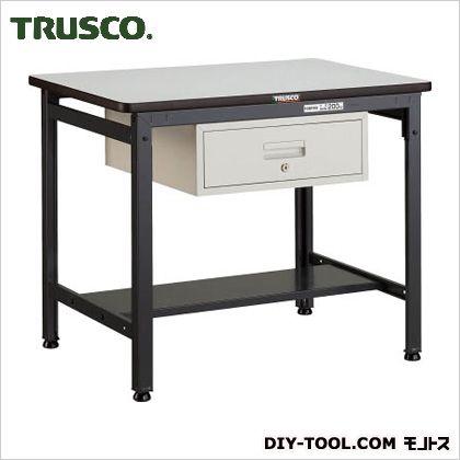 トラスコ EW型作業台ポリ天板 引出1段 900×600×740 EWP0960F1