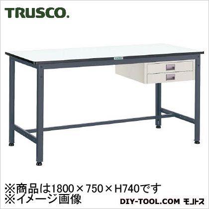 トラスコ EL型軽量作業台薄型2段引  EL1875UDC2