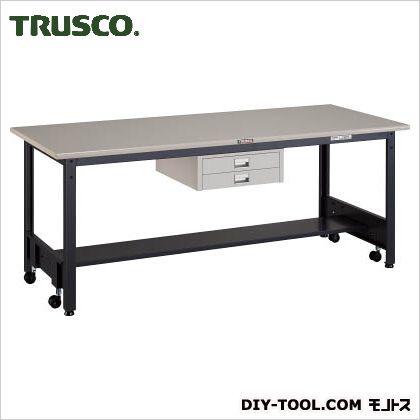 トラスコ 移動式作業台中量鉄天板 薄引出2段 1800×750 CFWS1875UDC2