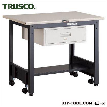 トラスコ 移動式作業台中量鉄天板 引出1段 900×600 CFWS0960F1