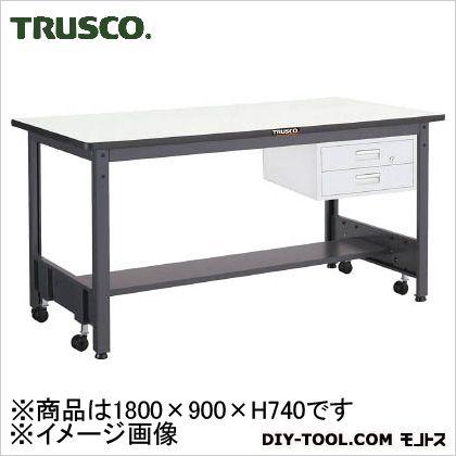 トラスコ 移動式作業台中量リノ天板 引出2段 1800×900 CFWR1890F2