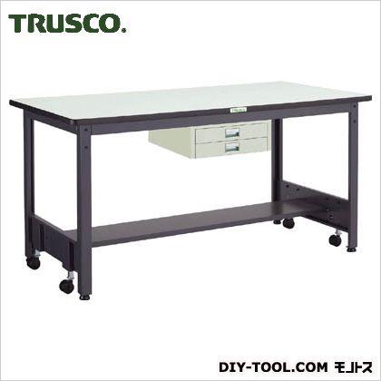 トラスコ 移動式作業台中量ダップ天板 薄引出2段 1800×750 CFWP1875UDC2