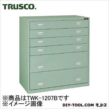 トラスコ スリーロックワイド重量キャビネット  TWK1207B
