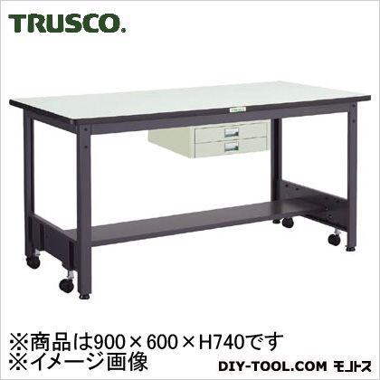 トラスコ 移動式作業台中量ダップ天板 薄引出2段 900×600 CFWP0960UDC2