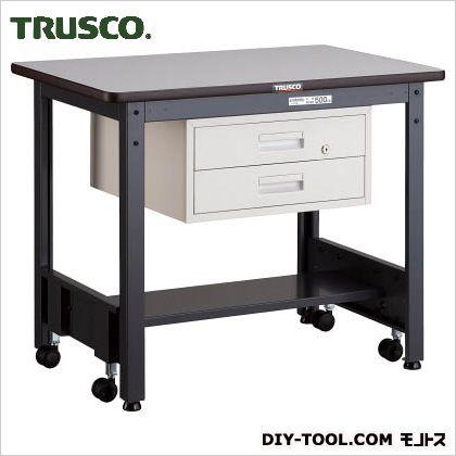 トラスコ 移動式作業台中量ダップ天板 引出2段 900×600 CFWP0960F2